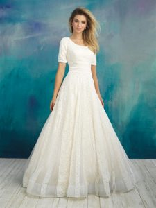 madame bridal modest wedding dress